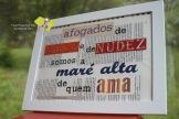 """Rosa Lobato de Faria """"Maré alta"""" [Frase proposta por Isabela Sousa] Original: cartão, cartolina e papel, impresso, recortados e colados. A4."""